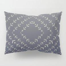 Boho blue fade indigo vines Pillow Sham