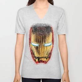 Iron Man Pointillism Unisex V-Neck