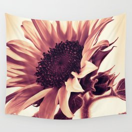 Rose Pink Sunflower Wall Tapestry