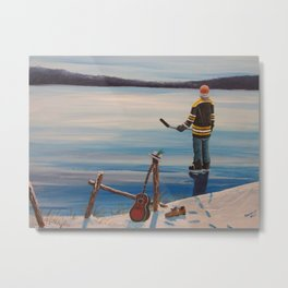 On Frozen Pond - Gord Donnie - Tragically Hip Metal Print