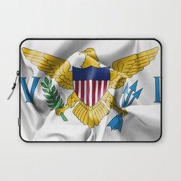United States Virgin Islands Flag Laptop Sleeve