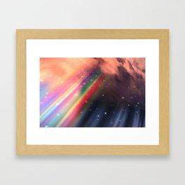 Under The Rainbow Sky Framed Art Print