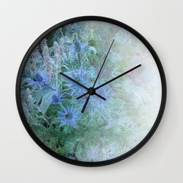 Blue Cone Flowers Wall Clock
