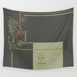 New Technology Commands Wall Tapestry