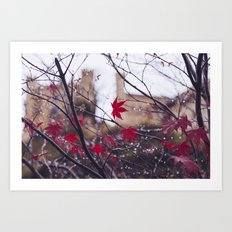 Blood Red Autumn Art Print