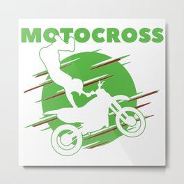 Motocross Bike Design for a Dirt Bike Rider Metal Print