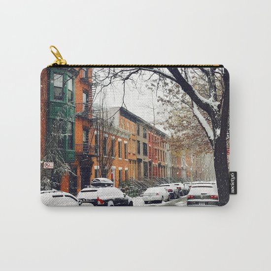 Brooklyn New York City Snow Showers Carry-All Pouch