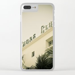 Art Deco Miami Beach #12 Clear iPhone Case