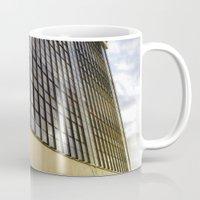 bauhaus Mugs featuring Bauhaus Sunset by Nat Alonso