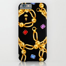 gold party 3 iPhone Case