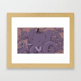 Memories Tangled Up Like Elephant Trunks. Framed Art Print