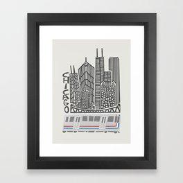 Chicago Cityscape Framed Art Print