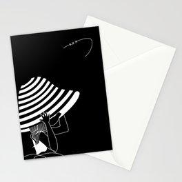 poupette dans le vent... Stationery Cards