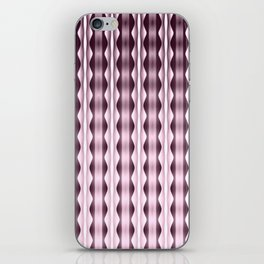 Wavy Verticals Pink iPhone Skin