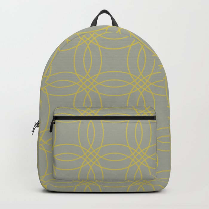 Simply Vintage Link in Mod Yellow on Retro Gray Backpack