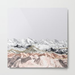 Pastel Mountains I Metal Print