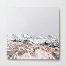 Pastel Mountains I Metal Print