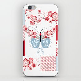 Cherry Blossom Butterfly Collection iPhone Skin