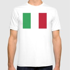 Italia  Mens Fitted Tee White SMALL