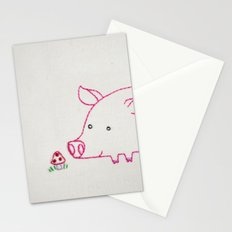 P Pig Stationery Cards