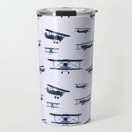 Retro airplanes #2 || watercolor Travel Mug
