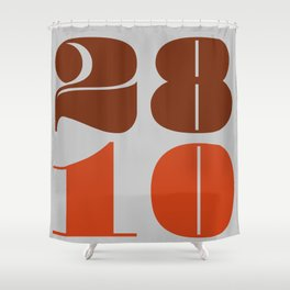 28th October Shower Curtain