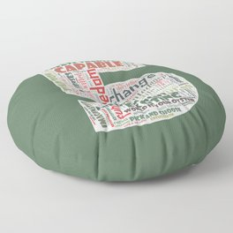 Life Path 5 (color background) Floor Pillow