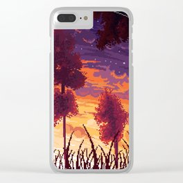 Sunset aesthetic Clear iPhone Case