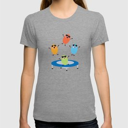Cute Jumping Jelly Beans Wearing Sunglasses T-shirt