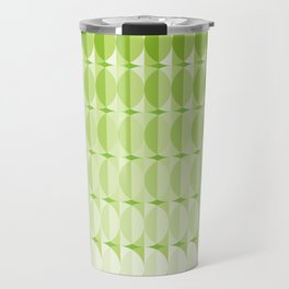 Leaves at springtime - a pattern in green Travel Mug