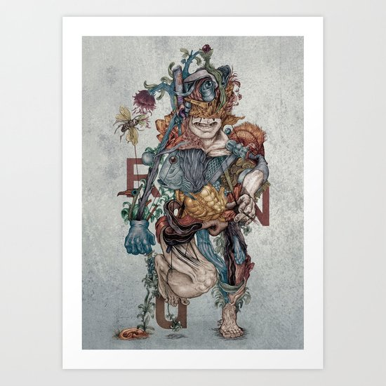 Human naturally Art Print