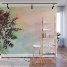 Watercolor Palm Trees- Rainbow Edition Wall Mural
