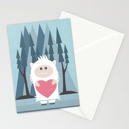 Little Yeti, Big Heart Stationery Cards