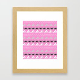 Mountains in blush pink Framed Art Print