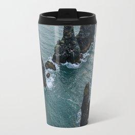 Sea stacks on the Icelandic Coast near Vik - Landscape Photography Travel Mug