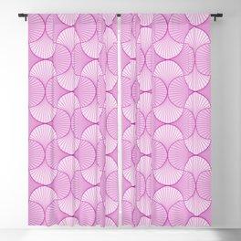 Purple Abstract Flower Petals Pattern Blackout Curtain