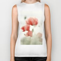 poppies Biker Tanks featuring Poppies by Falko Follert Art-FF77