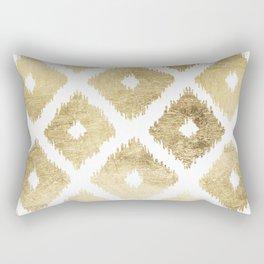 Modern chic faux gold leaf ikat pattern Rectangular Pillow