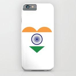 India  love flag heart designs  iPhone Case