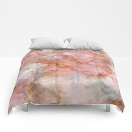 Beautiful & Dreamy Rose Gold Marble Comforters