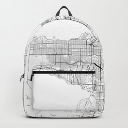 Vancouver Map White Backpack