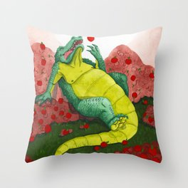 Allison's Alligator Throw Pillow