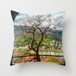 Window to the Tree of Life Throw Pillow