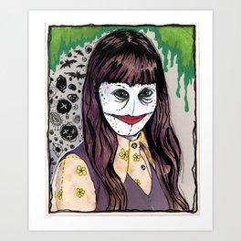 Barbara  Xmas 1975, Age 10 Art Print