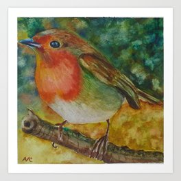 The little robin Art Print