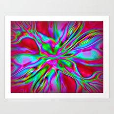 Colorfoil Radiates Red Art Print