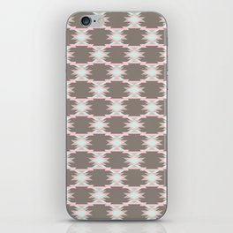 Gray Aztec Pattern iPhone Skin