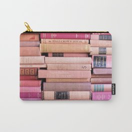 Vintage Pink Stacks Carry-All Pouch