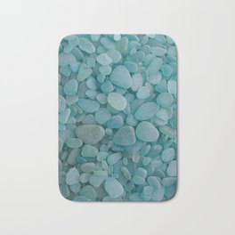 Japanese Sea Glass - Low Tide Blues I Bath Mat