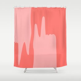 Pointing Fingers Shower Curtain